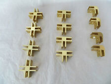 CRL Brass Anodised 2-way 3-way 4-way 90 Degree Glass Connectors 8mm Glass SET