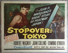 Affiche ESPIONNAGE A TOKYO Stopover Tokyo ROBERT WAGNER Joan Collins AFF. US