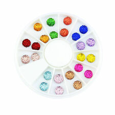 Top Nail 1 Wheel 3D Nail Resin Multi-Color Round Charms Decoration ZP185