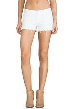 J BRAND WHITE VIXEN DENIM SHORTS W26 UK 8