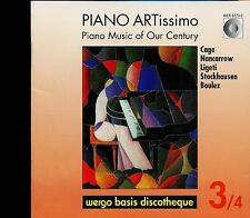 Piano ARTissimo Piano Music Of Our Century 3/4 CD  Wergo Cage Nancarrow - MINT