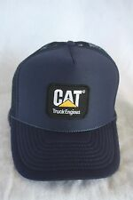 CAT DIESEL TRUCK ENGININES, WITH EMBROIDERY PATCH  COLOR  NAVY ADJUSTABLE SNAPS