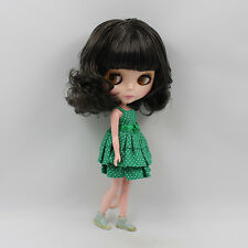 """12"""" Nude Blythe Doll from Factory short dark curly hair free shipping new sale"""