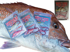 5 Snell Rig 4/0 Fishing Rigs Suicide Red Hook 50lb Leader Perfect Snapper Season