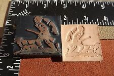 LEATHER TOOLS/** VINTAGE ** PRESS TYPE GOING HUNTING STAMP **  (SK 56)