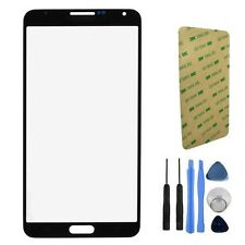 Black Front Screen Lens Glass For Samsung Note 3 N9000 N9005 + Tools + Adhesive