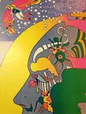 Rare Vintage Peter Max Nutriment Number Two Psychedelic Art Poster