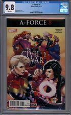 A-Force #8  Captain Marvel  Medusa  1st Print   CGC 9.8
