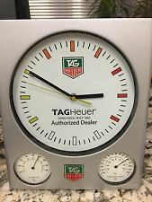 TAG HEUER DEALER SHOWROOM BAROMETER, THERMOMETER CLOCK!!! RARE!!!