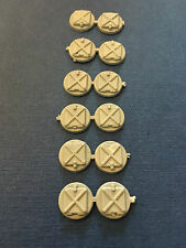 Model Boat Fittings Round Deck Hatches 10mm (12) - CMBP131