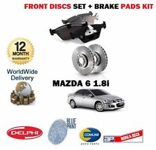 FOR MAZDA 6 1.8 GG18 7/2002-6/2008 NEW  FRONT BRAKE DISCS SET   + DISC PADS KIT
