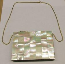 Vintage Mother of Pearl Accented Compact Makeup Case / Purse ~ 15-G6490