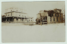 RARE RPPC - SHEDS NY - Real Photo Postcard 1908 Fire - Madison County RPO