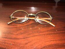 Gold Oval Frame Cartier-Like Vintage Eye Glasses