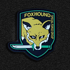 USA FOXHOUND ARMY MILITARY Specia Force TACTICAL PVC VELCRO PATCHES Morale Badge