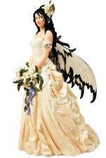 New NENE THOMAS Fairie BRIDE WHITE LILY Fairy Ornament Figure DOLL GOWN DRESS