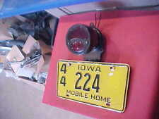 VINTAGE TAIL LIGHT LICENSE PLATE Travel Trailer Airstream Shasta Camper RAT ROD