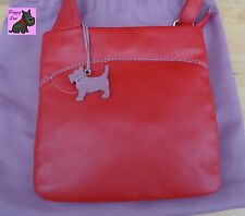 RADLEY -  Small Red Leather Messenger Pocket Bag *Pristine Condition* RRP £89