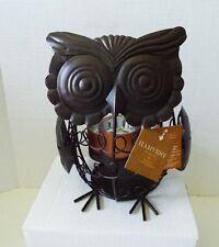 Owl Tealight Candle holder Harvest Season Metal Bronze 3 Holders NWT