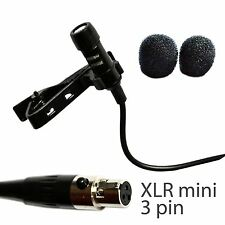 UltraDisk 4016 Lavalier Lapel Microphone for AKG Wireless mini XLR TA 3F