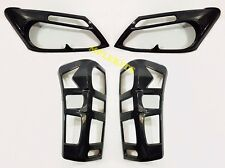 CARBON HEADLIGHT TAILLIGHT COVER TRIM FOR ALL NEW ISUZU DMAX D-MAX 2012 13 14
