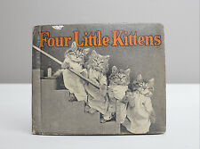 VINTAGE 1934 FOUR LITTLE KITTENS BOOK RAND McNALLY KITTENS IN CLOTHES