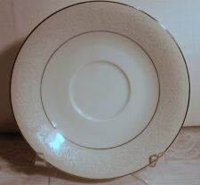 """EKCO PRUDENCE MONIQUE LACE SAUCER PLATE 6-1/4"""" PATTERN NUMBER 329 WHITE"""