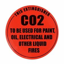 2 X ID SIGNS FOR CO2 EXTINGUISHER  FREE POSTAGE