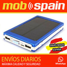 SUPER CARGADOR SOLAR MOVILES DUAL MICRO USB iPAD iPHONE SAMSUNG BATERÍA 10000MAH