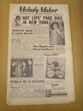 MELODY MAKER 1954 NOVEMBER 13 HOT LIPS PAGE JOHNNY DANKWORTH RINGSIDE CLUB PARIS