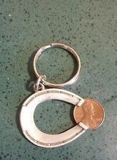 Vintage 1975 Lucky Penny And Horseshoe Keychain