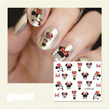 Nail Water Decals Nail Art Transfer Nail Stickers Accessory Cute Minnie Mouse
