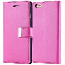 Dual Card Holder Cash Wallet Leather Book Flip Case Cover Fr Apple/Android Phone
