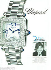 PUBLICITE ADVERTISING 066  2000  Chopard  montre Happy 2000  femme