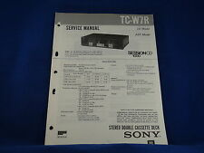 Sony TC-W7R Cassette Deck Service Manual