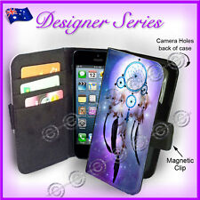Designer Apple iPhone 5C Wallet Flip Card Case Artistic Dreamcatcher Purple 1