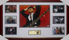 ACDC ANGUS YOUNG ACDC HAND SIGNED & FRAMED PHOTO COLLAGE PSA DNA CERT #K05497