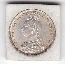 1887  Jubilee Head  Regular  Sixpence  (6d)  Sterling  Silver  British  Coin