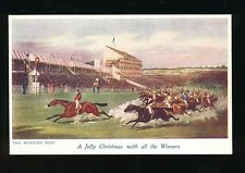Horse Racing THE WINNING POST Artist pre1919 PPC Owl Series
