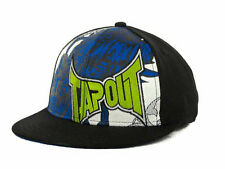 TAPOUT MIXED MARTIAL ARTS GRIM LOGO YOUTH STRETCH FIT FLATBILL HAT/CAP - BLACK