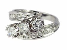 Moderner 14 K 585 Weißgold Gold 1.00 ct Brillant Cluster Damen Ring