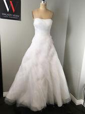 WTOO Sz 8 White Chiffon Polyester Wedding Gown