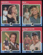 """BULL DURHAM ~ 1988 Baseball Card Set of 4 including Kevin Costner """"Crash Davis"""""""