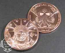 "1 oz ""Liberty Or Give Me Death"" Apocalypse Zombie Copper Round Bullion Coin"