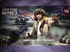 Dr who  50th anniversary   4th  doctor   dalek  stamp cover
