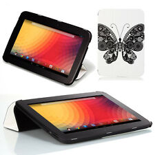 Poetic Slimline Flip Leather Stand Case Cover for Google Nexus 10 inch Butterfly