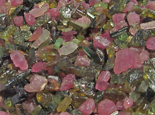 25 Cts Green Pink Tourmaline Small Chip Pencil Lots Fairy Bottle Healing Crystal
