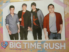 Big Time Rush, Ariana Grande, Double Full Page Pinup
