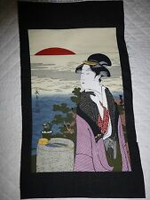 GEISHA Kona Bay Japanese Lady Fabric Panel Craft Quilting 2