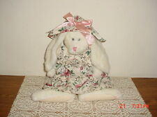 "BOYDS BEARS  13"" CUTE ""MAGNOLIA O' HARE"" WHT RABBIT-FLORAL/BLUE TAG/CLEARANCE!"